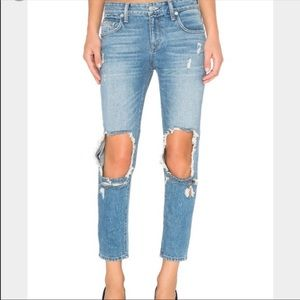 Lovers+Friends Ezra Boyfriend Distressed Jeans